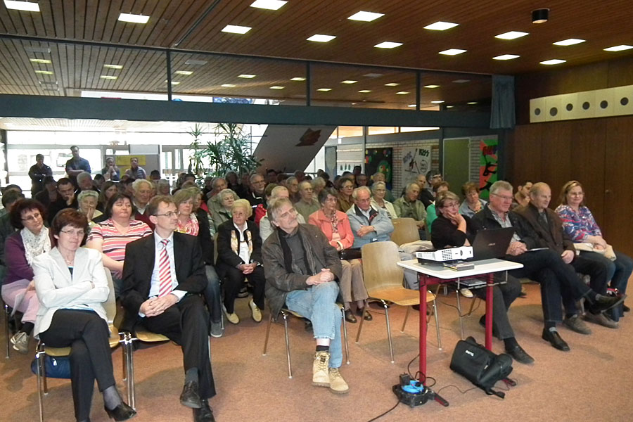 Bürger beim Vortrag