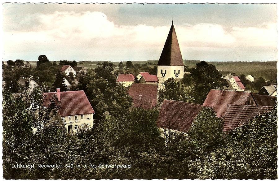 alte Postkarte: Luftkurort Neuweiler