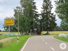 Parkplatz an der K 4325 Agenbach Richtung Würzbach