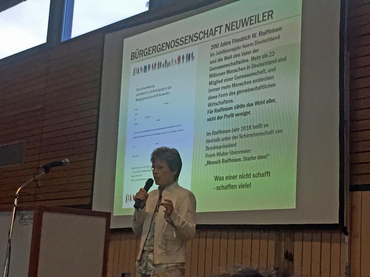 """Anita Burkhardt vom Verein """"Miteinander und Füreinander in der Gemeinde Neuweiler"""""""