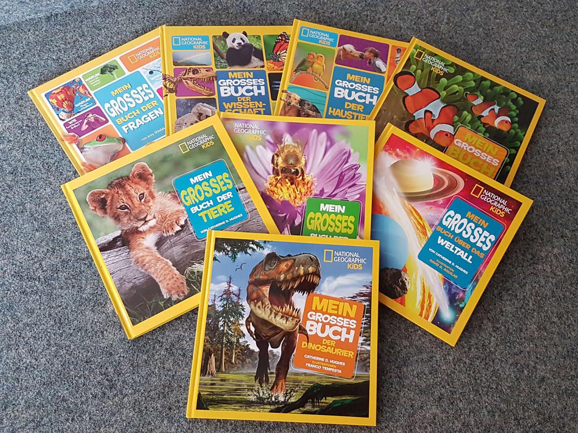 """8 Bücher der """"National Geographic Edition für Kids"""""""
