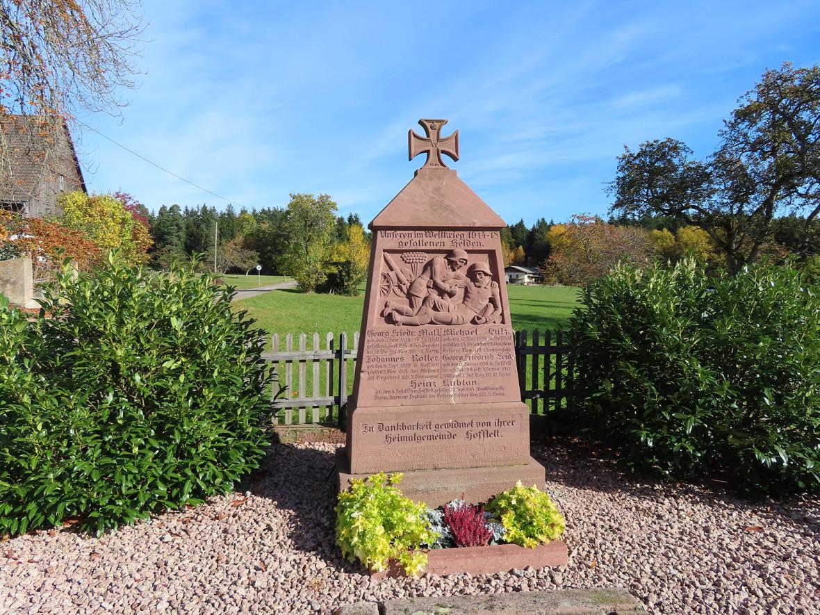 Denkmal für die im Ersten Weltkrieg gefallenen Soldaten aus Hofstett